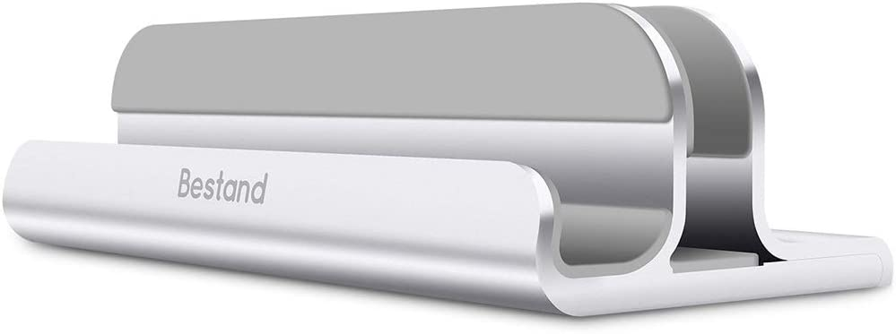 Colore : Silver Holder Portable Bestand lega di alluminio portatile regolabile verticale Doppio scanalature del supporto di raffreddamento argento