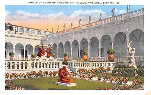 Corner of Court of Ringling Art Museum Sarisota Florida USA