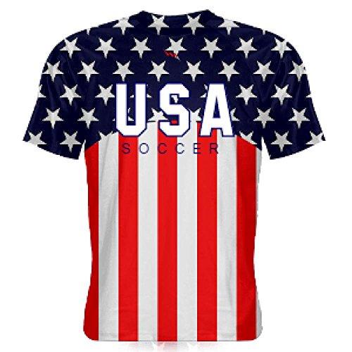 (LightningWear USA Soccer Jersey - USA Soccer Shirts - American Flag Shirts - America Soccer - Medium)