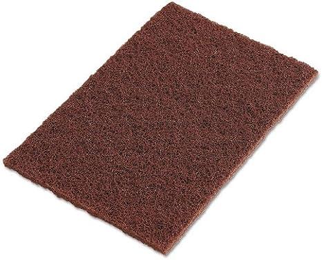 3m 6444 brown pad 6x9 heavy duty Scotch-Brite/™ Hand Pads Set of 10