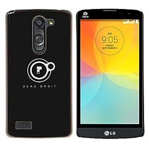 Orbit Dead- Metal de aluminio y de plástico duro Caja del teléfono - Negro - LG L Prime / L Prime Dual Chip D337