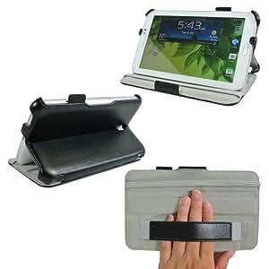 ProCase Samsung Galaxy Tab 3 7.0 Case - Slim Fit Hard Folio Cover for Samsung Galaxy Tab 3 7.0 Inch Tablet Wifi 3G 4G LTE SM-T210R SM-T2100 P3200 (Black)
