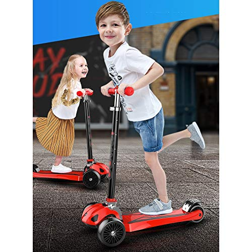 FDSjd Scooter, One-Legged Scooter, Male and Female, 1-12 Years Old, Gravity Steering, Yo-yo (Color : Green) by FDSjd (Image #2)
