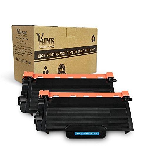 V4INK Compatible Brother TN880 Toner Cartridge for Brother HLL6200DW HLL6200DWT MFCL6700DW HLL6250DW HLL6300DW HLL6400DW HLL6400DWT MFCL6750 MFCL6800 MFCL6900DW Printer, 2 Pack Black