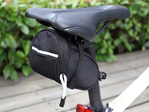 System-S Fahrrad Sattel Tasche Werkzeugtasche Schwarz