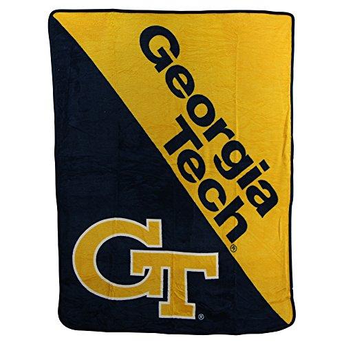The Northwest Company NCAA Half Tone Super Soft Plush Throw Blanket (Georgia Tech Yellow Jackets)