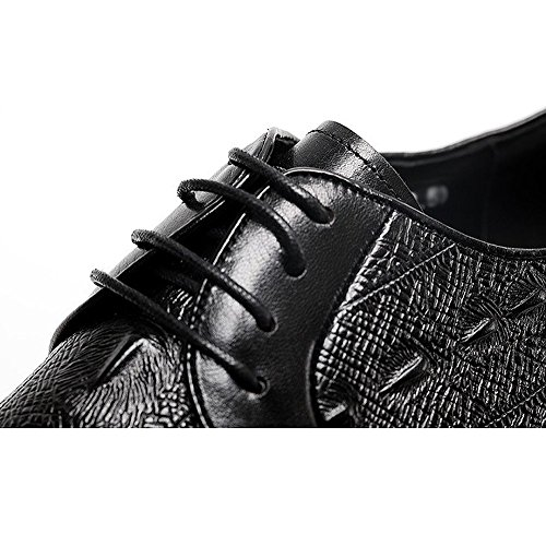 Extérieur HommesHommes Chaussures en pour Conduite Chaussures Cuir Coréen Général DHFUD Mode Black RY7SOg