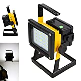 Rechargeable Cordless 30W Portable 20LED Flood Spot Work Security Light Lamp Outdoor Cool White Garden Lighting