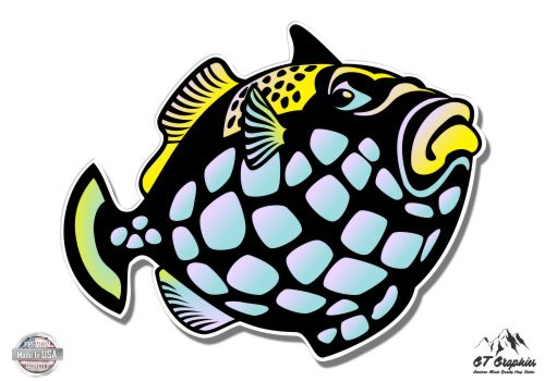 Clown Trigger Fish Vinyl Sticker Waterproof Decal