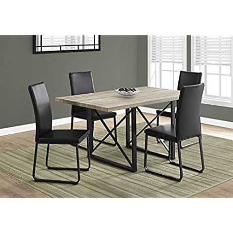 Monarch I 1100 Dining Table 36 X 60 Black Metal Dark Taupe