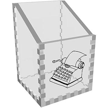 Azeeda Máquina de Escribir Claro Organizador de Escritorio / Lápiz Titular (DT00050635)