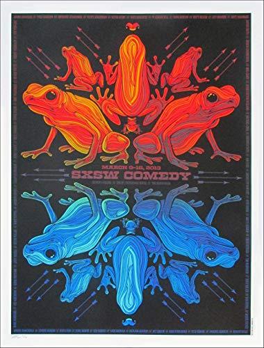 SXSW Comedy Poster 2013 Austin TX Kristin Schaal Reggie Watts Marc Maron SN 200 Todd Slater