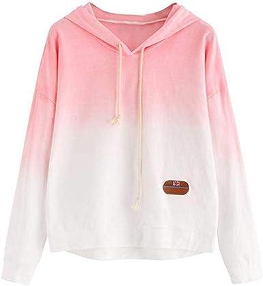 Wofupowga Womens Crop Tops Pullover Hooded Embroidery Long Sleeve Sweatshirt
