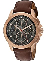 Michael Kors Mens Ryker Rose Gold-Tone Watch MK8519
