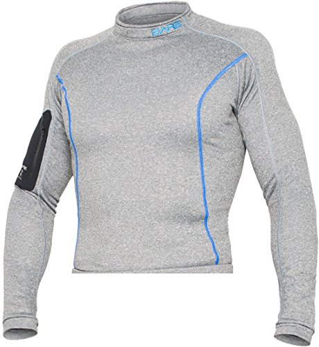 Bare Mens SB System Base Layer Top (Medium-Large, Gray)