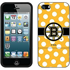 fahion caseiphone 5c Black Slider Case with Boston Bruins Polka Dots Design
