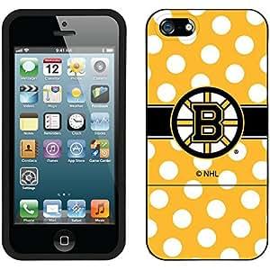 fahion caseiphone 6 4.7 Black Slider Case with Boston Bruins Polka Dots Design
