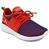 Nautica Women Fashion Sneaker Lace-Up Jogger Running Shoe-Orange/Navy Mesh-8.5