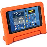 HDE Kids Case for Tab 4 7.0 - Lightweight Childproof Cover Shock Proof Protective Convertible Handle Stand for 7 Inch Samsung Galaxy Tab 4 (Orange)