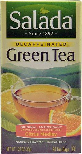 Salada Decaffeinated Green Tea with Original Antioxidants Citrus Medley -- 20 Tea Bags - 2 pc