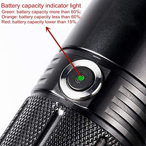 aolongwl Flashlight Powerful LED flashlight Tactical AA Torch 1100lm LED High Power Light Lamp Indicator Power 6 Modes Camping