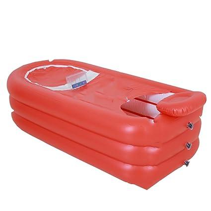 HzhiH-Bañeras y asientos de baño Bañera Inflable para Adultos Plegable Bañera para el hogar
