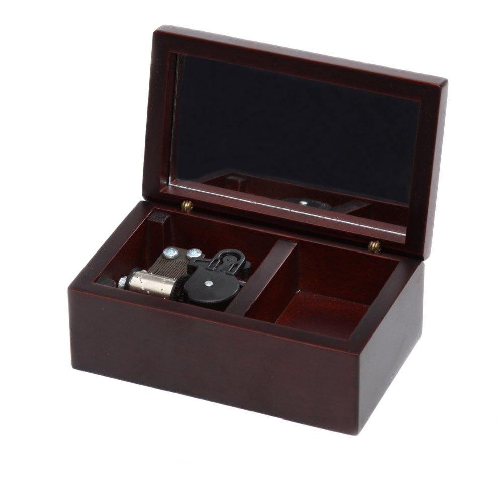 最終値下げ Wind - - Up Wooden Musicalボックス、スモールサイズストレージ音楽音楽ボックス、ギフトボックス、Edelweiss Musicalボックス Up Musicalボックス B01JJ2AKRW Claret-silvery Claret-silvery, トレンドNOW:16a8d45f --- arcego.dominiotemporario.com