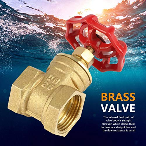 DN25 Sturdy Brass Gate Valve BSPP G1 Rotary Sluice Valve 232PSI for Water Oil Gas by Walfront (Image #8)