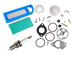 ouyfilters New Replacement 796184 698787 carbure Tor over Haul Kit with 697014 Air Filter 697015 Pre Filter for Briggs & Stratton Motores