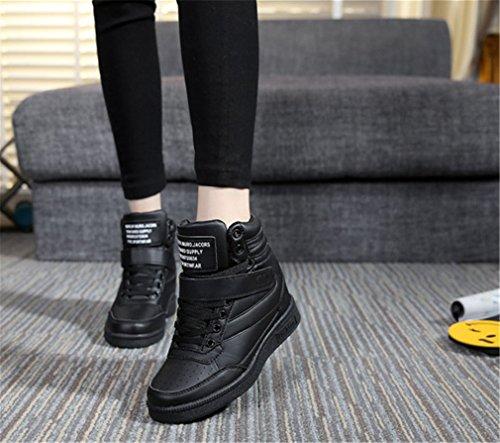 ocio como planos 's Negro deportivos zapatos para tocó de alto fondo zapatos mujeres a ayudar los Las ZwCqUxtZ