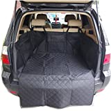 Dog Pet Car Cargo Liner Seat Cover for SUV Cars Truck Waterproof Washable Hammock Protection Cargo Cover Bed Mat - Black