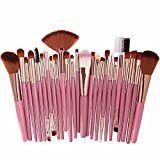 Beauty SFE Makeup Brush Set 25 Pcs Professional Cosmetic Brushes For Face,Eye Shadow,Eyeliner Foundation Powder Concealers Makeup Brush Gifts for Her (25 Pcs, 25 (F))