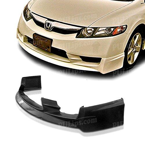 (PULIps HDCV094MUFAD - M-Spec Style Front Bumper Lip For Honda Civic Sedan 2009-2011)