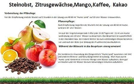 Fertilizantes Abono para árboles frutales, 1 L, Certified- IMO, ECOCERT: Amazon.es: Jardín