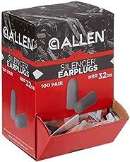 Allen Company 2342 Foam Ear Plugs in Re-Usable Bag, 25-Pair, Orange