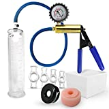Vacuum Pump LeLuv ULTIMA Including Protected Gauge Bundle with Sleeve, Donut & 4 Constriction Rings 9 x 2.00 Inch