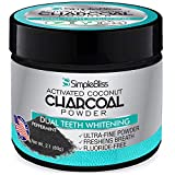 Activated Charcoal Teeth Whitening Powder - Natural and Effective Black Charcoal Teeth Whitener - Non-Abrasive and Safe on Enamel - Removes Tooth Stains to Restore Your Best Smile (60g)
