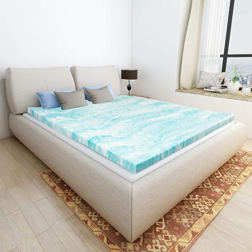Mattress Topper Queen, Gel Memory Foam Mattress Toppers for Queen Size Bed, 2 Inch ()