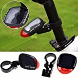 BZLine For Bicycler Bicycle Solar Energy Taillights LED Flashing Tail Light