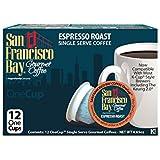 San Francisco Bay OneCup Espresso Roast (12 Count) Single Serve Coffee Compatible with Keurig K-cup Brewers Single Serve Coffee Pods, Compatible with Cuisinart, Bunn, iCoffee single serve brewers