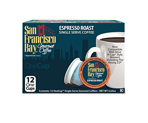 San Francisco Bay Espresso Roast Coffee Capsule, Compatible with Keurig K-Cup Brewers, 12-Count
