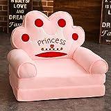 WAYERTY Children's Armchair, Children Sofa Cartoon Girl and boy Birthday Gift Toy Lazy Upholstered Cute Baby Small Sofa Seat Kid Chair Washable-pinkA 50x40x45cm(20x16x18inch)