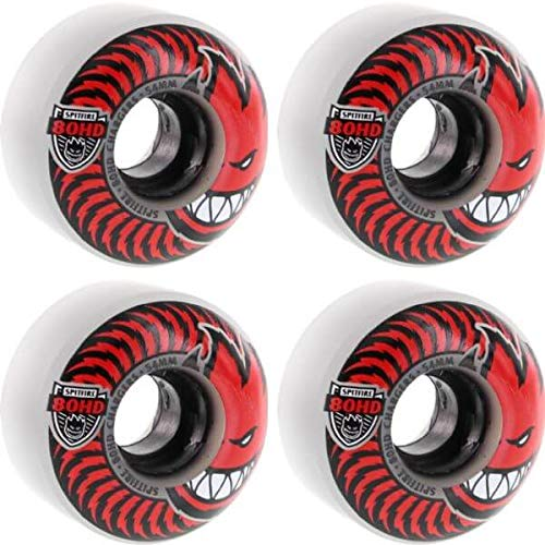 (Spitfire Wheels 80HD Charger Classic Clear / Red Skateboard Wheels - 54mm 80a (Set of)