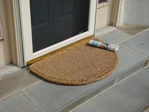 Rectangle Welcome Mat - Kempf Rectangle Dragon Coco Coir Doormat, 18-inch by 30-inch