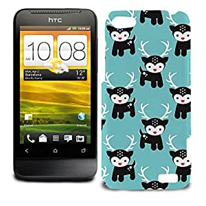 Phone Case For HTC One V - Rudolph the Red Nosed Reindeer Lightweight Cover