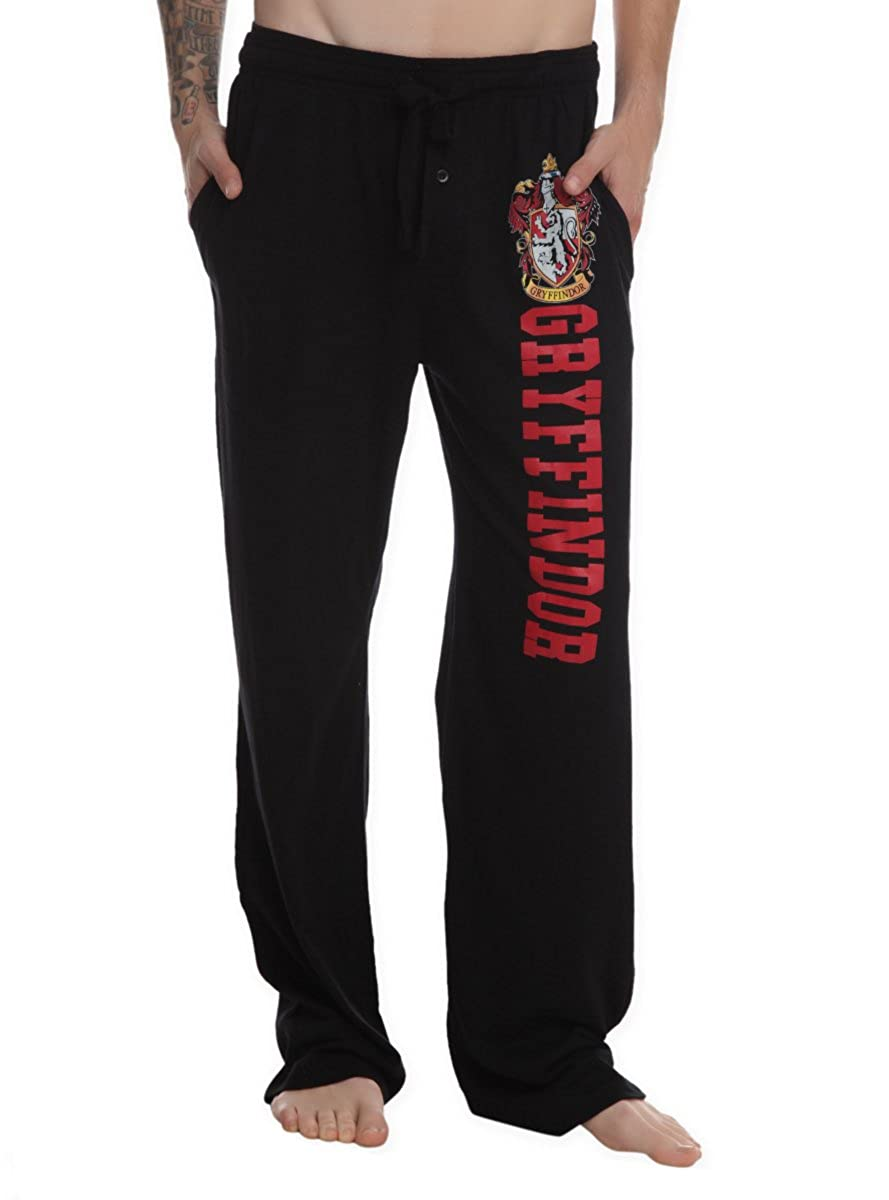 Harry Potter Gryffindor Guys Pajama Pants Black Large Hot Topic 10101152