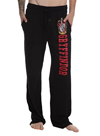 Harry Potter Gryffindor Guys Pajama Pants Black Medium