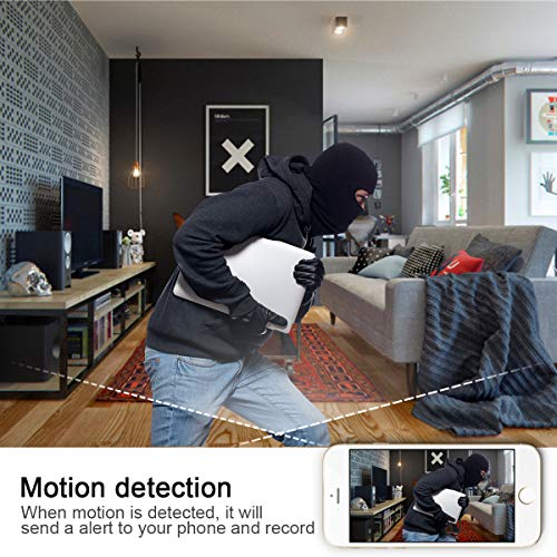 Hidden Spy Camera Clock,HD 1080P WiFi Camera Alarm Clock with Night Vision and Motion Detective,Monitor Video Recorder Nanny Cam for Home Office Security