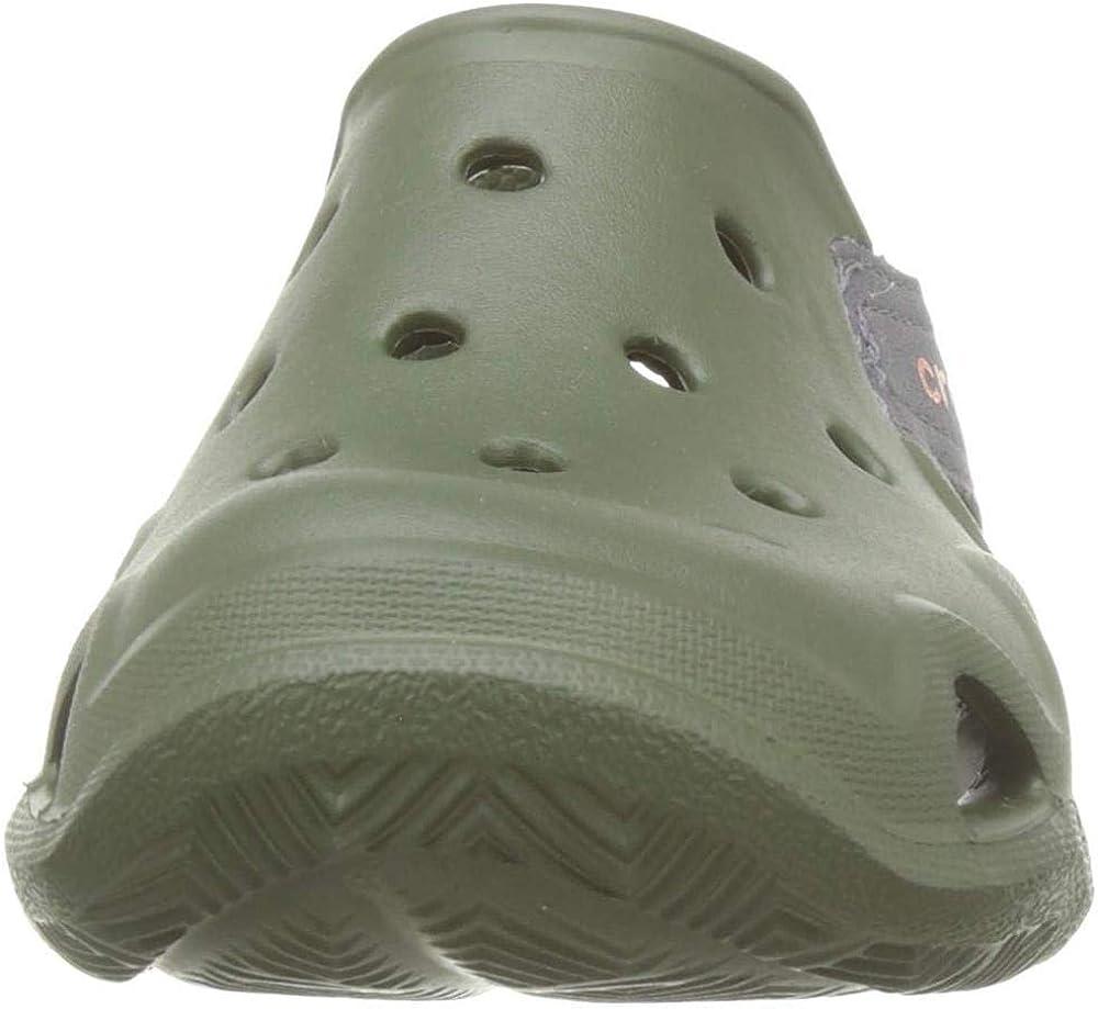 34//35 EU Army Green 309. Verde Zuecos Unisex ni/ño Crocs Swiftwater Wave K