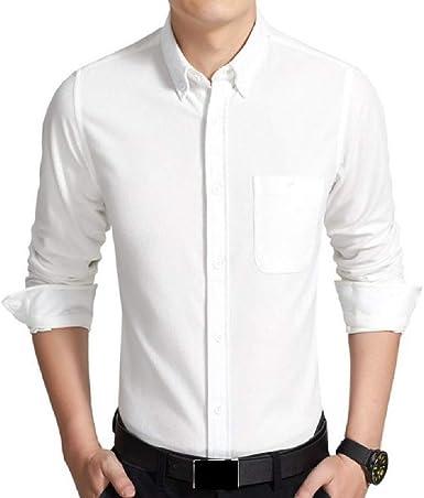 Aooword-men clothes Camisas de pana de negocios camisa de manga corta camisa básica Para Hombres: Amazon.es: Ropa y accesorios
